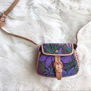 Vintage Handmade Mexican Floral Embroidered Purse